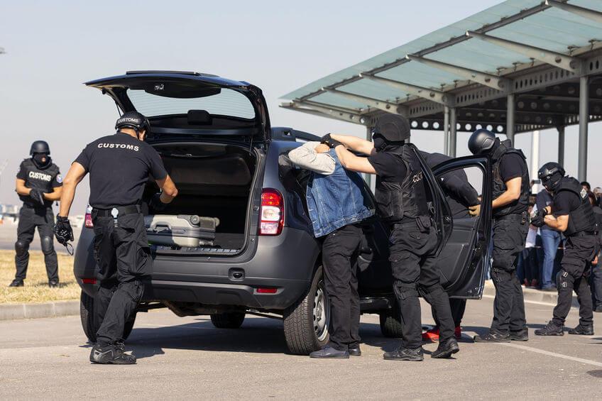Drug traffic stop arrest